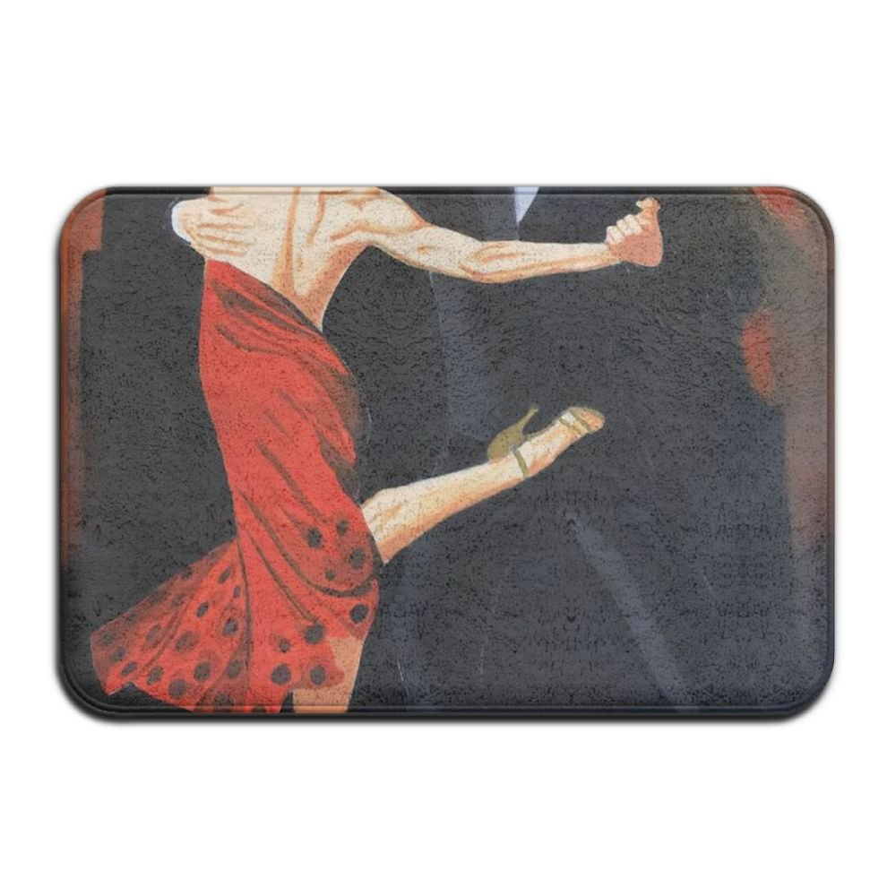 Xcczs Tango Dance Water Absorption Funny Door Mat Insidefront Outdoor Dining Room Welcome Doormat