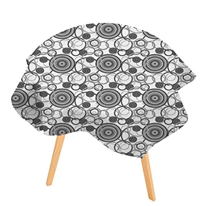 Amazon.com: PINAFORE Circular Solid Polyester Tablecloth Texture ...