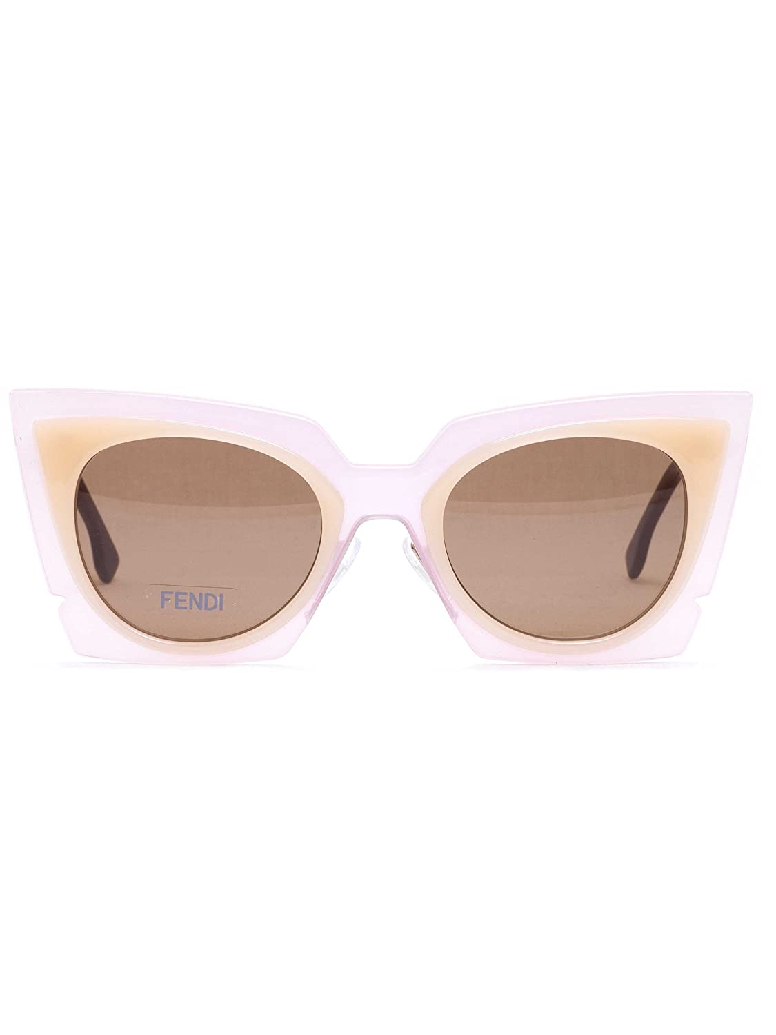8fcbeac043 Fendi 0117 S Orchid Cat Eye Sunglasses LAQUT Pink   Peach   Tobacco Brown  Lenses at Amazon Men s Clothing store