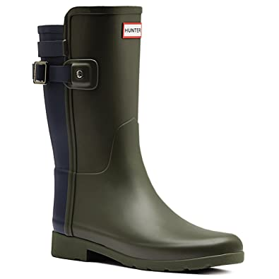 Hunter Original Refined Back Strap Boots  Wellies Color Black  Women