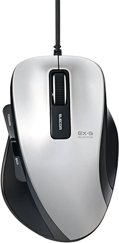 M-xg1ubbk Ex-g Series M Size 5 Button Black Elecom Usb Wired Blueled Mouse Windows8 Corresponding