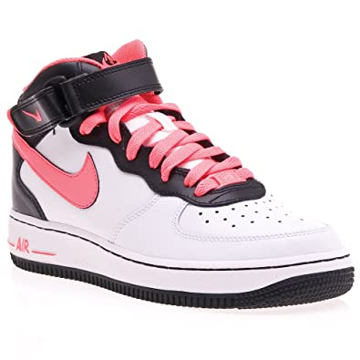 nike air force 1 mid gs red black youths trainers shoes