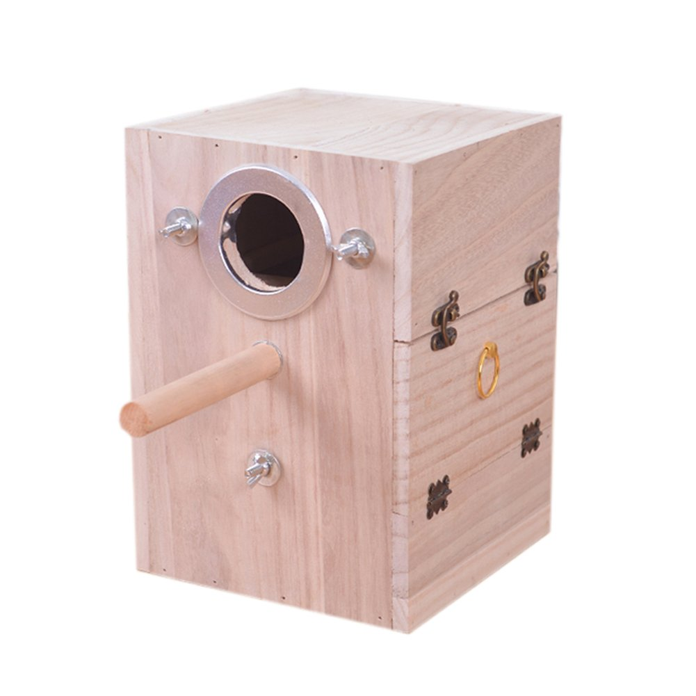 Yijiujiu Pet legno uccello allevamento box Parakeet Budgie Cockatiel allevamento Nesting uccello Aviary Cage box