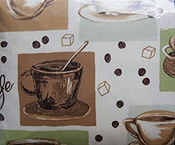 Mainstays U0026quot;Multi/Gourmet Coffeeu0026quot; Vinyl Tablecloth 60in ...