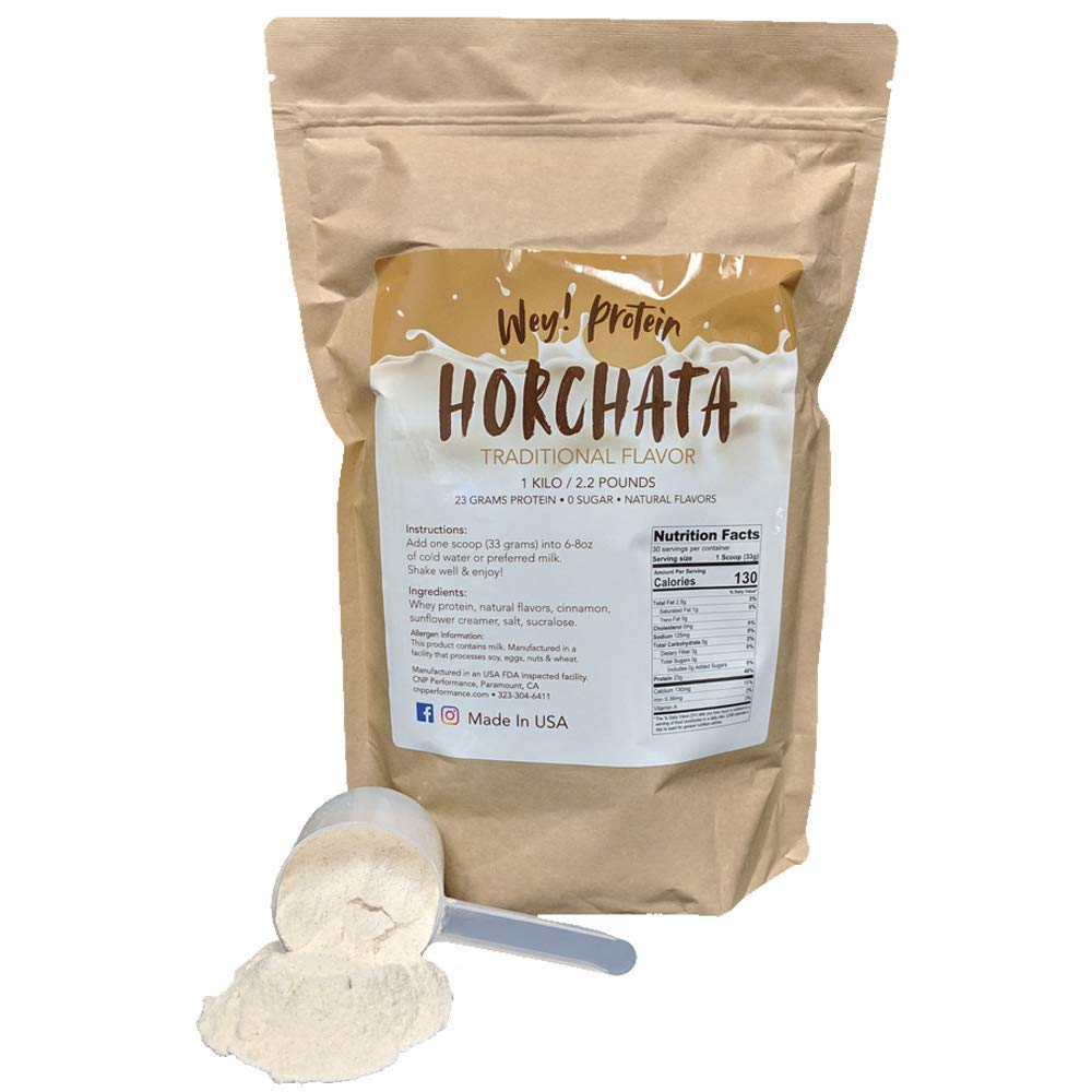 Horchata – Whey Protein, Traditional Mexican Flavor, Sugar-Free, Gluten-Free, 23g Protein, Made in USA 30 Servings, 2.2lbs