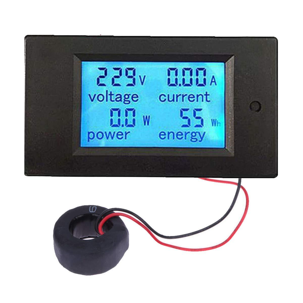 Baitaihem AC 80-260V 100A LCD Display Digital Current Voltage Power Energy Meter Multimeter Ammeter Voltmeter by Baitaihem (Image #1)