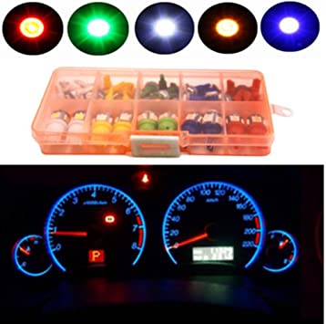 WYQ 40 Pcs Mixed Color T5 T10 LED 5050SMD Car Dashboard Instrument Indicator Lights