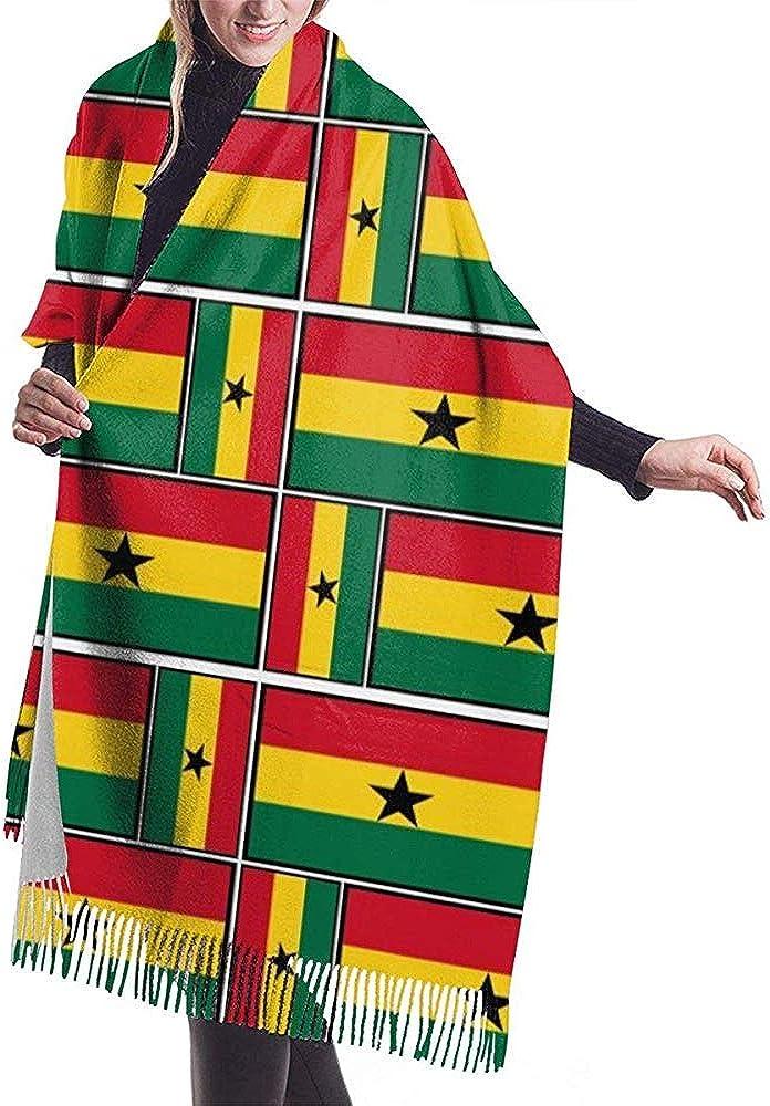 LisaArticles Bufanda Unisex, Ghana Flag Puzzle Bufandas ...