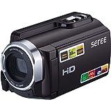 SEREE Videocamera HDV-501 FHD 1080P Wi-Fi Connection 60FPS Dual SD Slot di visione notturna batteria esterna 20MP 16X Zoom digitale 3 pollici touch
