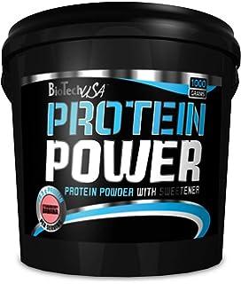 Biotech USA Protein Power - Proteína en polvo, sabor fresa y plátano, hidrolizado de