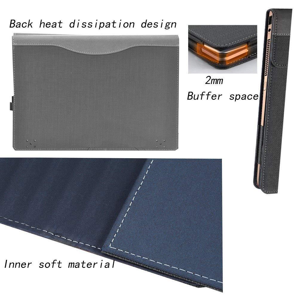 Laptop Cover for Lenovo Yoga C930/920/910/yoga 7 pro/Yoga 6 Pro/Yoga 5 Pro 13.9 Inch Folio Tablet Case Grey by Lakikey (Image #4)