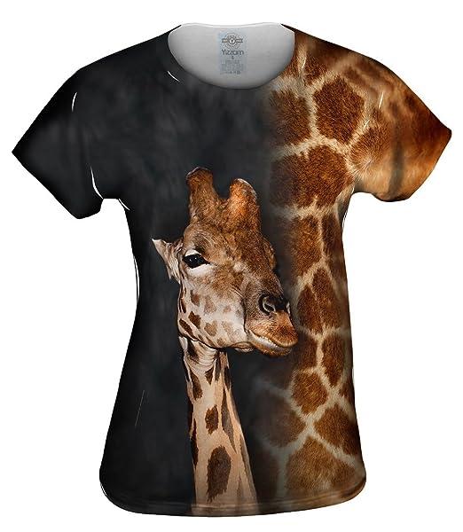 Amazon.com: yizzam- Jirafa mitad piel – tshirt- – Camisa ...