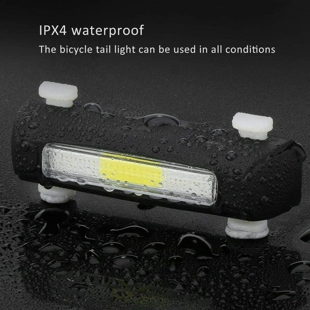 VGEBY Feu arri/ère de v/élo Lampe de v/élo Rechargeable USB Tricolore feu arri/ère de v/élo Avertissement de s/écurit/é /éclairage de Nuit