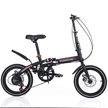 DBSCD Bicicleta Plegable de Bucle de 16 Pulgadas Bicicleta ...