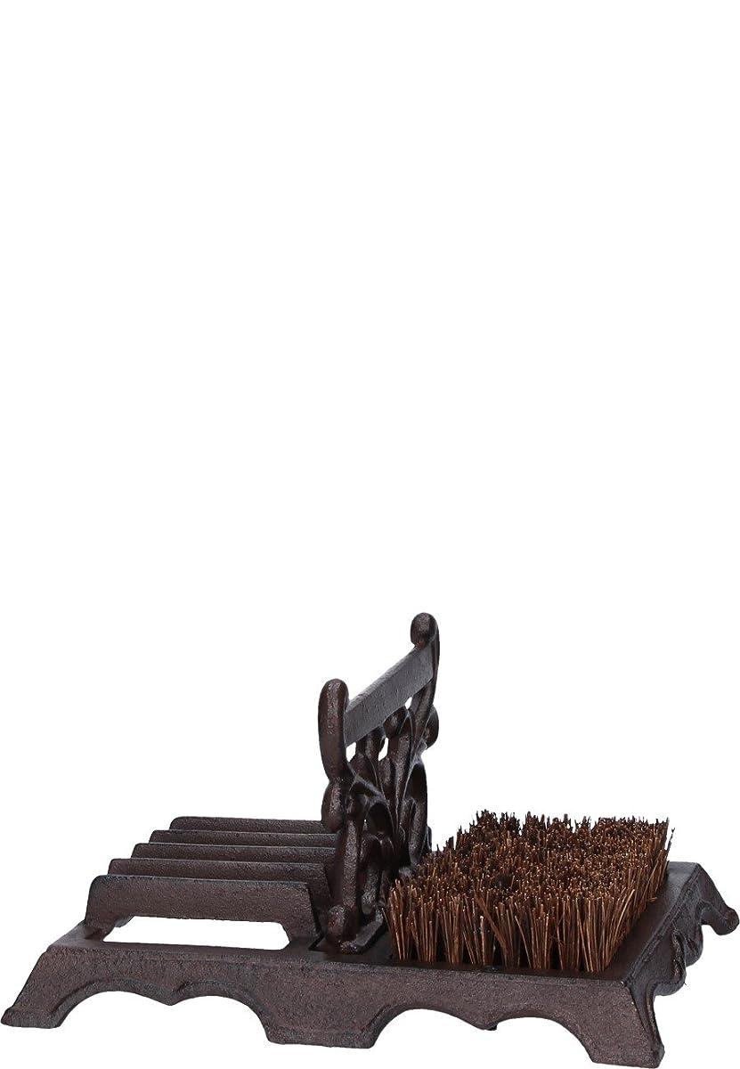 Esschert Design Cast Iron Boot Brush with Scraper