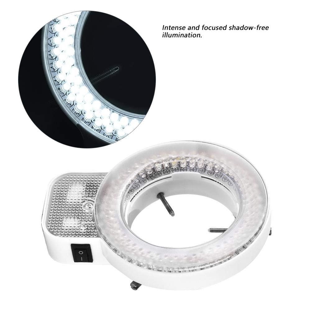 Camera LED Ring Light, Microscope Camera 144 LED Beads Light Source Brightness Adjustable Ring Lamp,Ring Lamp(#2) by Jacksking