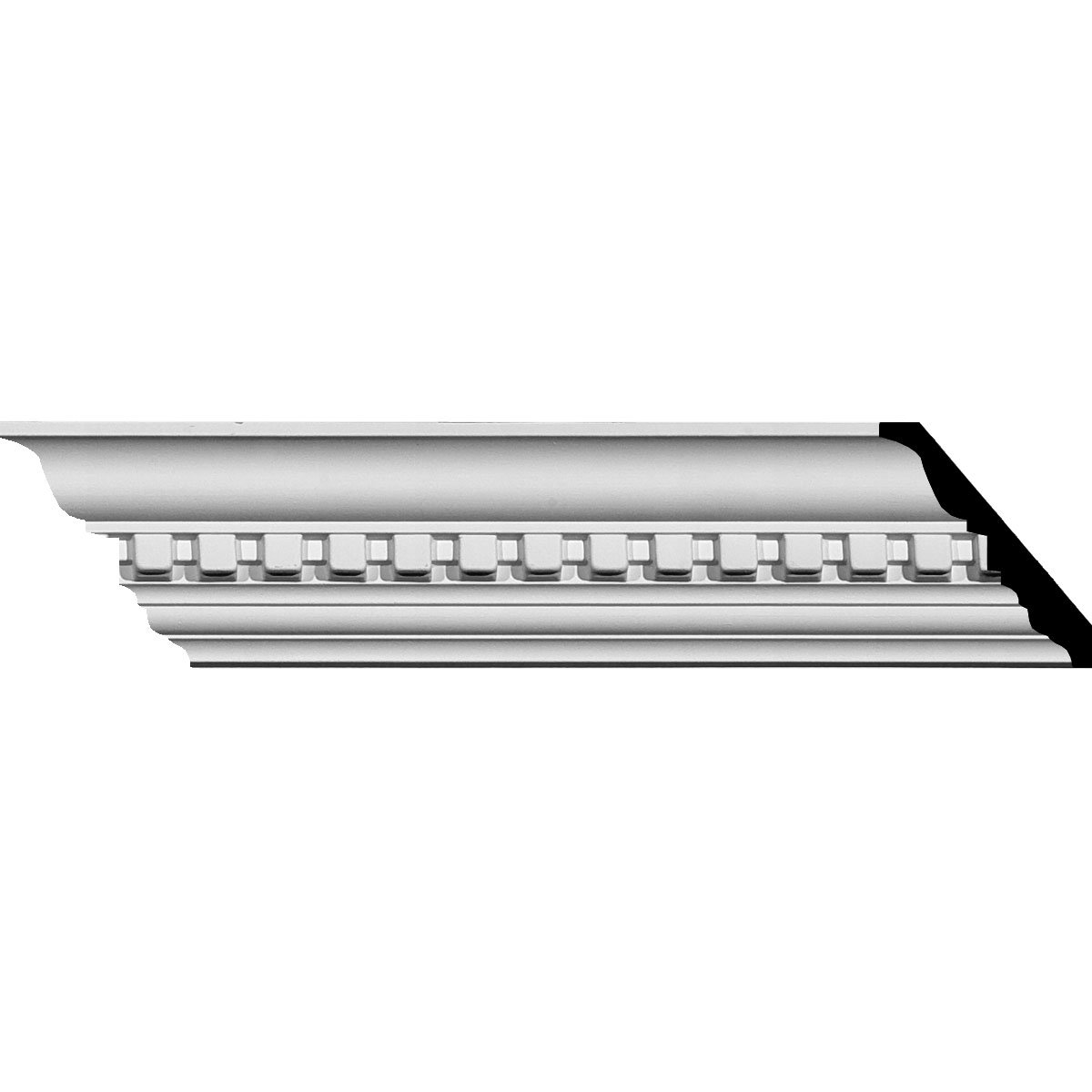 2 3/4''H x 2 3/4''P x 3 7/8''F x 94 1/2''L Dentil Crown Moulding