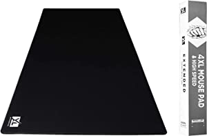 4XL Oversized Huge Mouse Pads (60'' x 30'') - Extra Large Gaming Mousepad for Full Desk - Super Thick Nonslip Rubber Base and Waterproof Desktop Keyboard Extended Mouse Mat (Black, 4XL)
