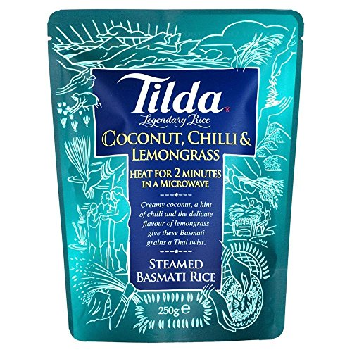 Tilda Steamed Basmati Rice Coconut, Chilli & Lemongrass (250g) - Pack of 2 by Tilda