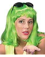 New Mens Womens Child Costume Green 80s Flip Party Wig