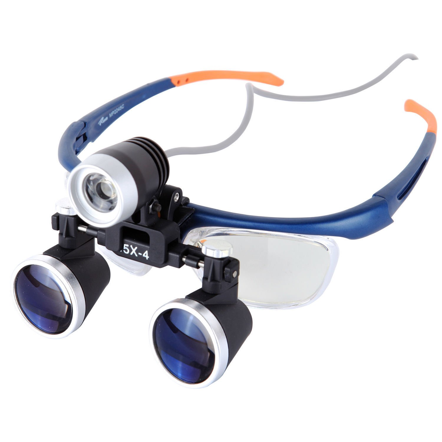 ELEOPTION Headset Magnifying Glasses 2.5X with LED Headlight Lamp 3W High Brightness Magnifier Loupe for Dental Surgical Binocular Loupes Glasses (Headlight +Magnifier 2.5X)