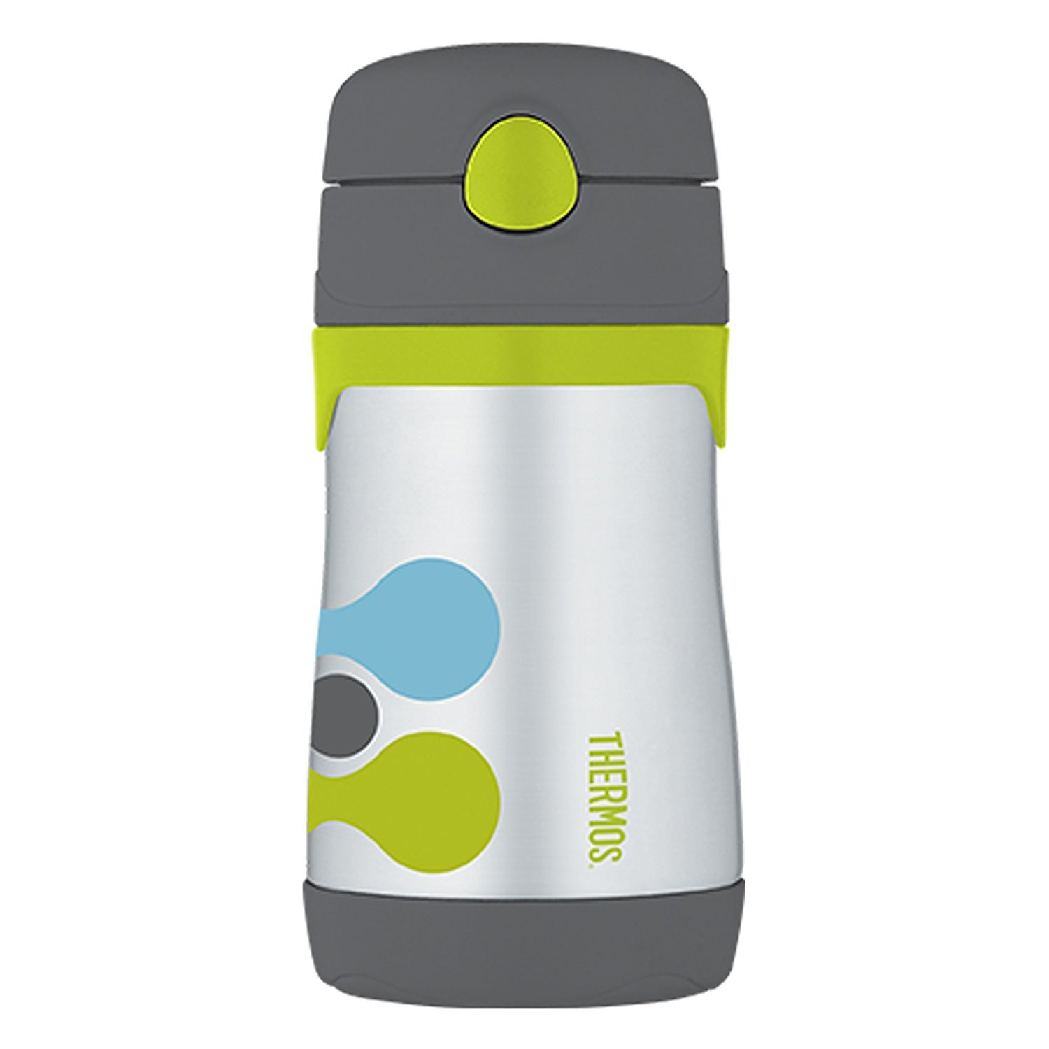 Thermokanne Blue Circle Thermos Isolierflasche Junior Straw Thermoflasche