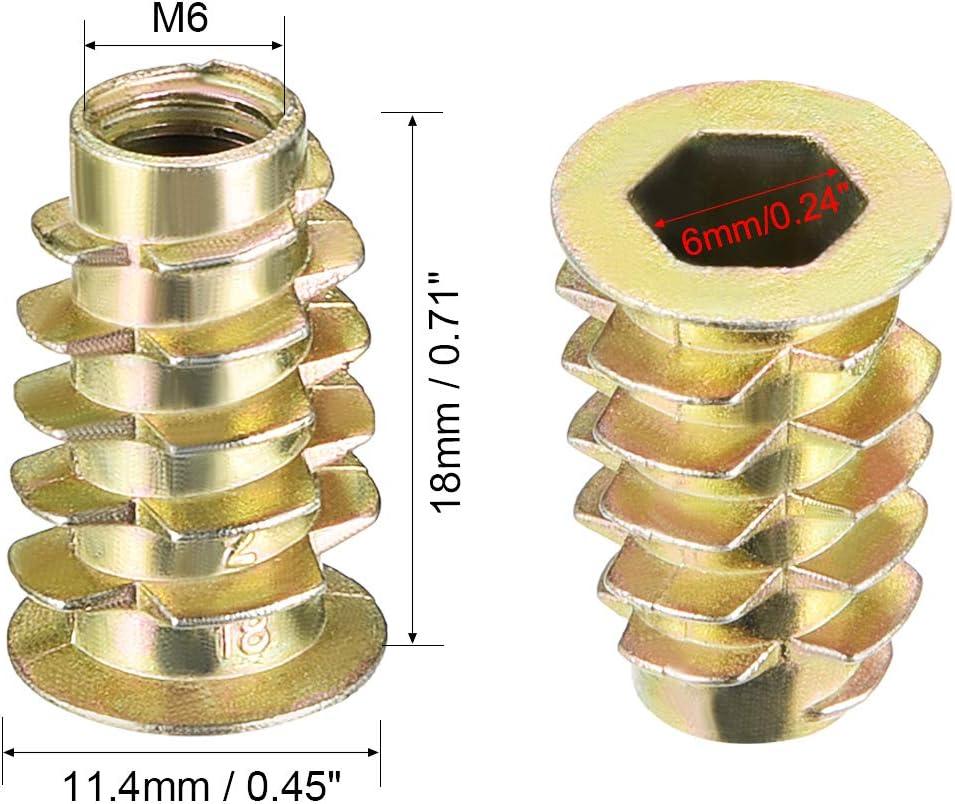 esagonali M6 Sourcingmap assortimento di bulloni dadi filettati in lega di zinco