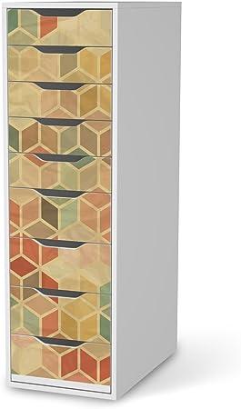 Meubles Sticker Decor Pour Ikea Alex Bureau 9 Tiroirs Stickers