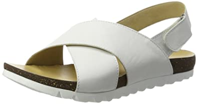 1673413 - Sandalias de Punta Descubierta Mujer, Color Blanco, Talla 38 EU Andrea Conti