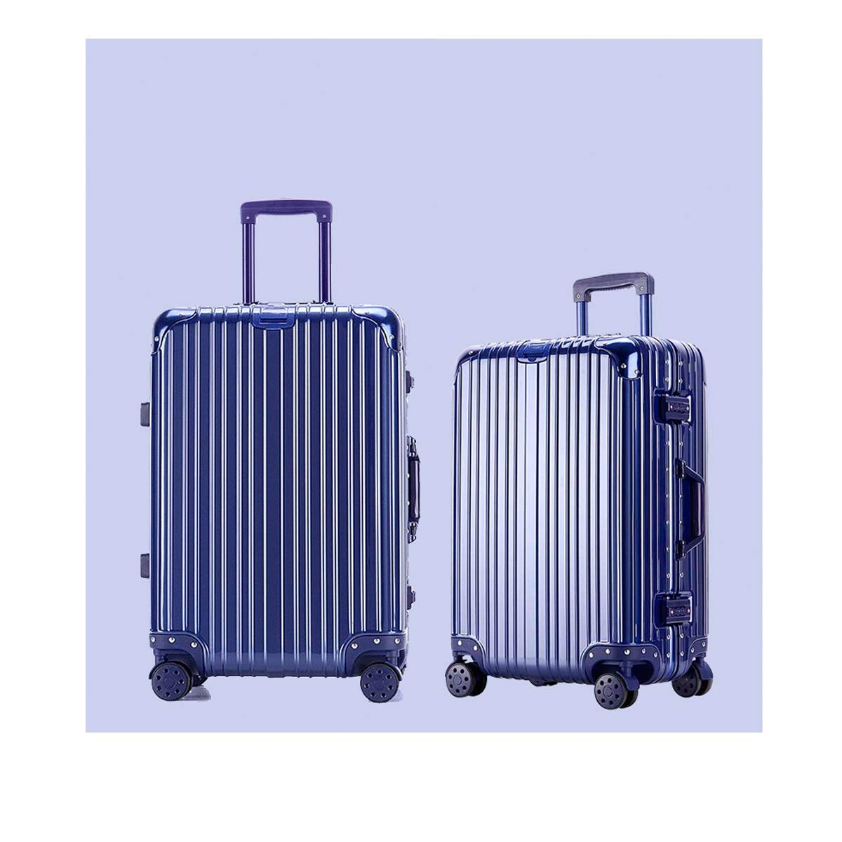 Color : Blue, Size : 24 Carry-on Luggage Huijunwenti Hard Rotating Suitcase Best Gift Travel Organizer Simple Silver The Latest Style 20//24 inch Trolley case