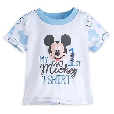 321b5474e69 Amazon.com: Disney Mickey Mouse ''My First Mickey'' Tee for Baby ...