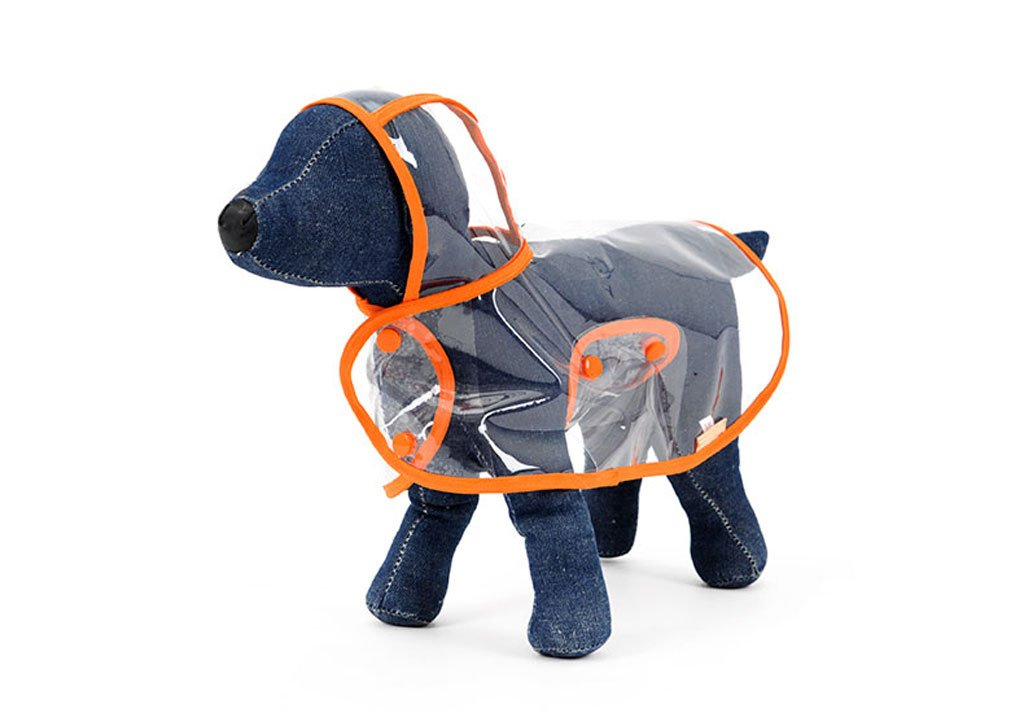 orange 4XL orange 4XL FXNN Pet Clothes Full Transparent Medium Large Dog pet Waterproof Clothes Raincoat (color   orange, Size   4XL)