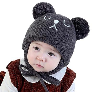 f57235fcf LANDGOO Baby Winter Hat Warm Elk Ears Beanie Knit Hat Kids Cute ...