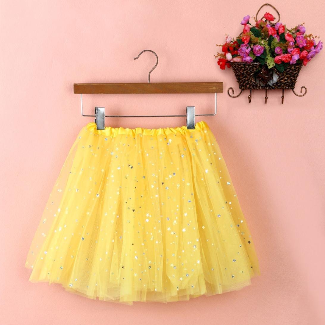 Sinwo Womens Girl Cute Pleated Gauze Short Skirt Adult Tutu Dancing Skirt Basic Skirt (Yellow)