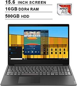 2020 Newest Lenovo Premium IdeaPad S145 15.6 Inch Laptop (AMD A6-9225 up to 3.1GHz, 16GB DDR4 RAM, 500GB HDD, AMD Radeon R4, WiFi, Bluetooth, HDMI, Webcam, Windows 10) (Black)