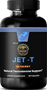 Jet-T Men's Full Total Testosterone Boosting Formula Testosterone Boosting Ingredients. Helps with Natural Stamina, Endurance and Energy, Muscle, Libido, High Potency, Bioavailability, Torque & Power