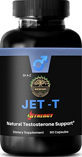 Jet-T Men s Full Total Testosterone Boosting Formula Testosterone Booster Ingredients. Helps Natural Stamina, Endurance and Energy, Muscle, Libido, High Potency, Bioavailability, Torque Power Titan