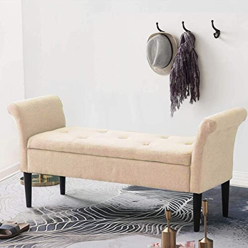 Alunaune Upholstered Storage Bench Ottoman