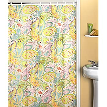 Amazon.com: Creative Bath Products Cool Paisley Shower Curtain: Home ...