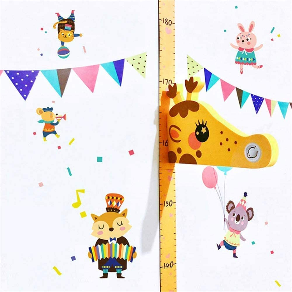Giraffe Baby Growth Chart Wall Decals for Kids Room Nursery Decor Holoras Magnetic Kids Height Growth Chart