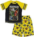LEGO Ninjago Big Boys' Spinjitsu 2-Piece Pajama Short Set, Ylwblk, 6/7