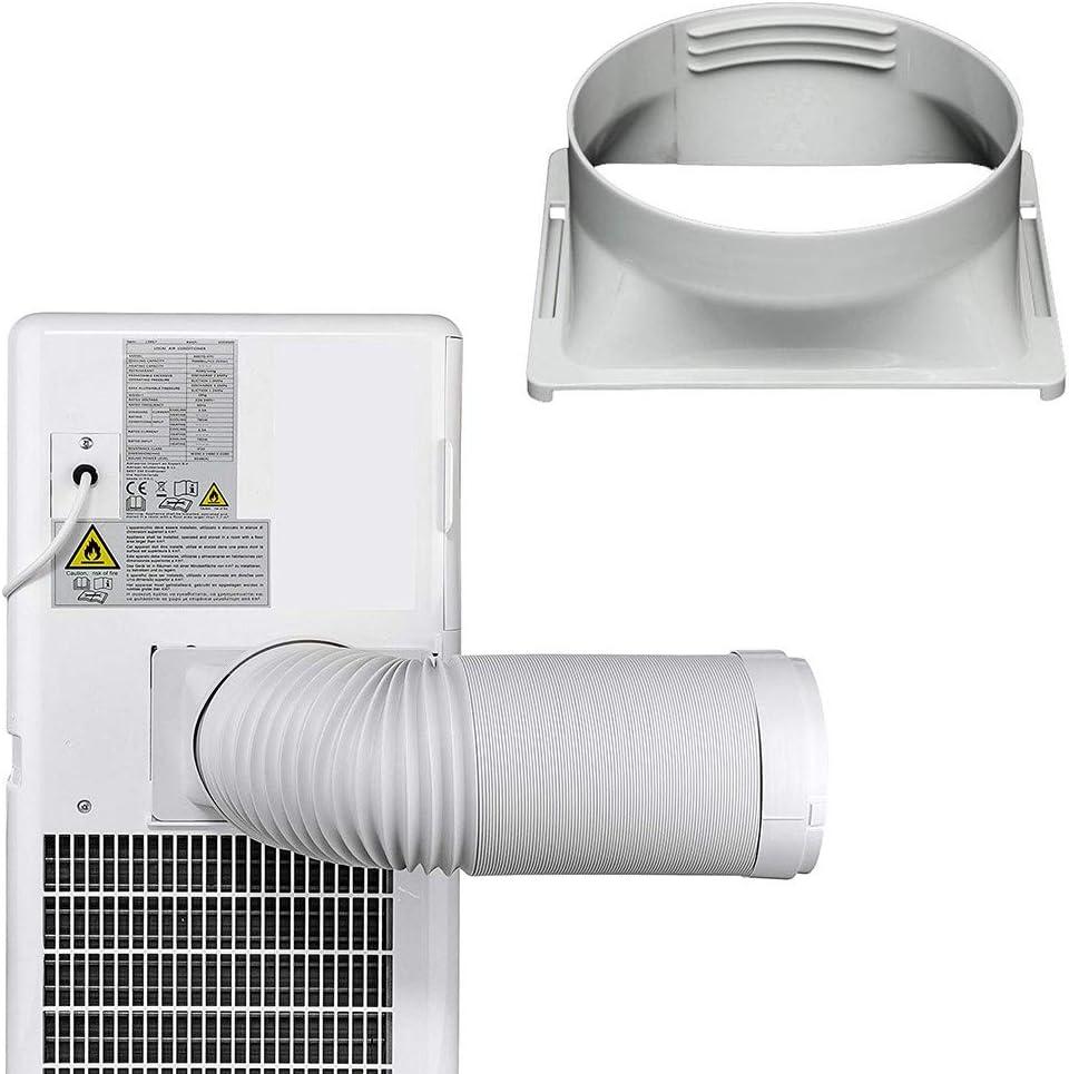 Lacyie Interfaccia per Tubo di Scarico Condizionatore 15cm Ugello Piatto Interfaccia per Tubo di Scarico per Aria Condizionata Mobile