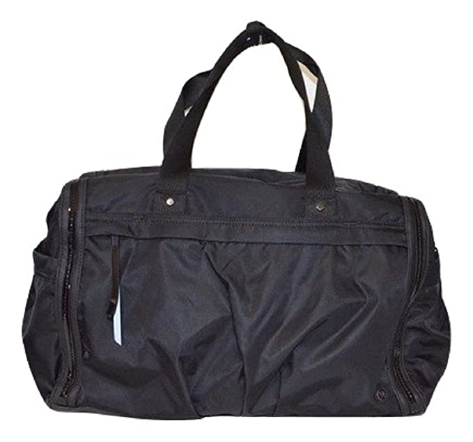 d204289773 Image Unavailable. Image not available for. Colour: LULULEMON Urban Warrior  Duffel Bag Midnight Black Travel Gym Overnight
