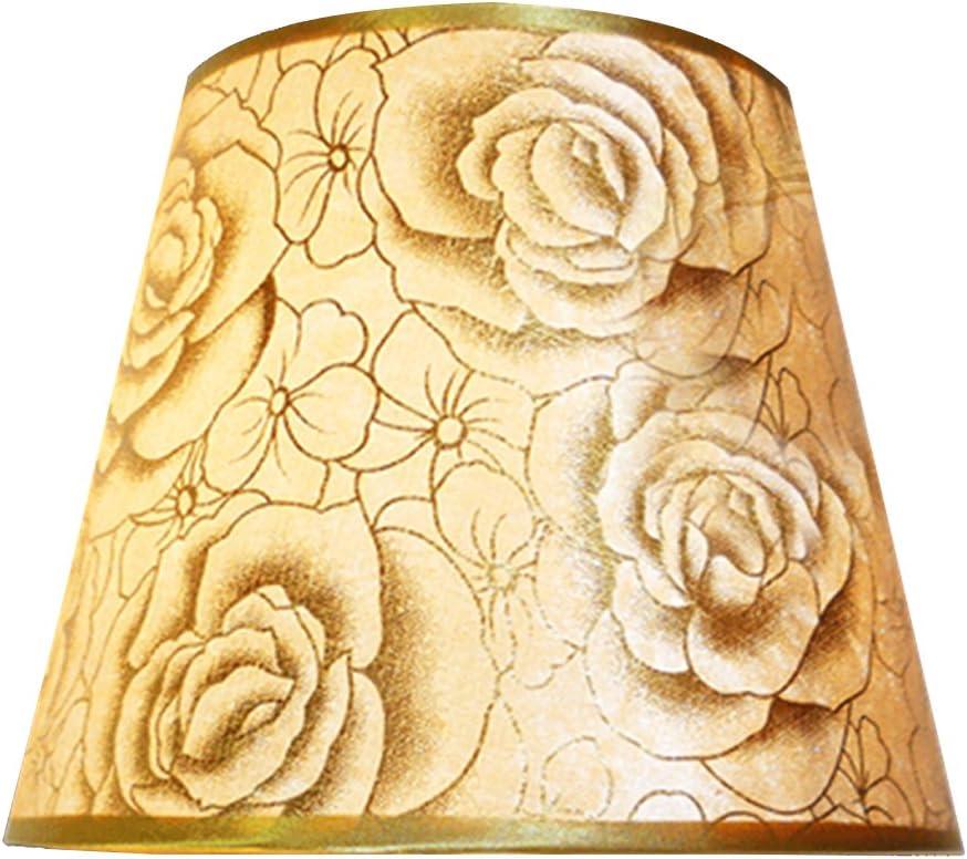 Eastlion Einfache moderne manuelle PVC-Lampenschirm f/ür Tischleuchte Stehlampe mit E27 Lampenhalter Lampenschirm 14x22x17cm Pink Rose Nachttischlampe Wandleuchte