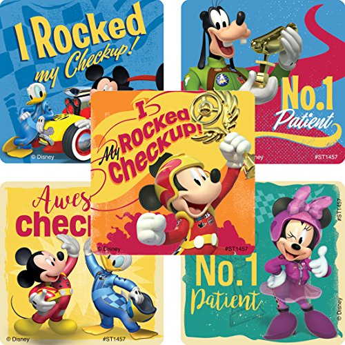 Mickey Mouse Roadster Patient Sticke - Prizes and Giveaways - 100 Per Pack by Smile Makers