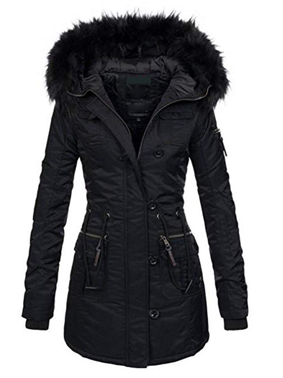 Amazon.com: New Women Winter Thicken Warm Coat Female Autumn ...