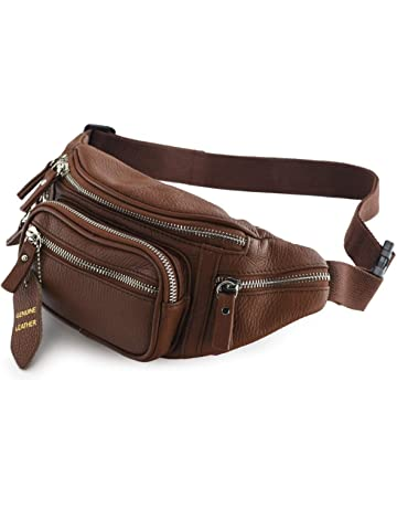 a55961e079ab Nabob Leather Fanny Pack Multifunction