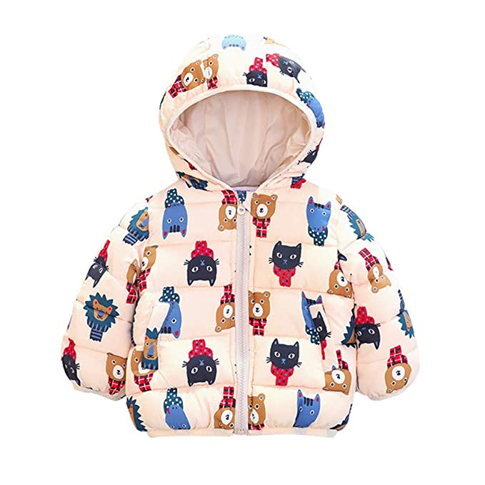 7949d20a8cec Amazon.com  Kid Infant Baby Boys Girl Autumn Winter Warm Bear ...