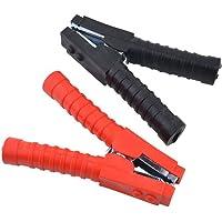 Juego de 2 pinzas para cables de batería de Gunpla, grandes, 150 mm, pinza roja y negra de 600 A