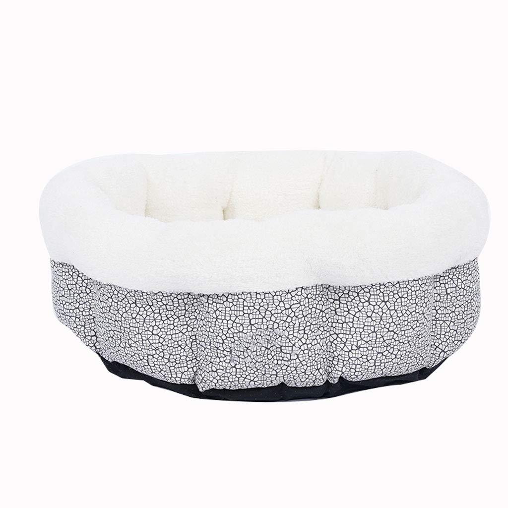 BLACK 60CM BLACK 60CM C_-1X Cotton Wool Pet Nest, Cat Litter, Pet Supplies, Winter, Warm, Kennel, Washable, House Villa,(Black, Red 60cm) (color   Black, Size   60CM)